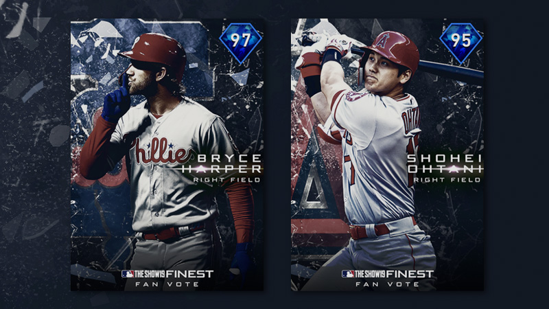 Harper and Ohtani Lead the Fan-Voted Finest Set 1